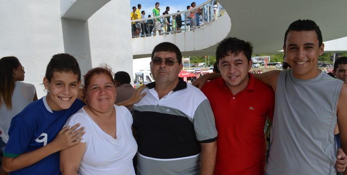 Rodrigues Lopes, paraibano visitante do Tour da Taça da Copa do Mundo (Foto: Larissa Keren / GloboEsporte.com/pb)