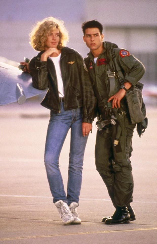 Kelly McGillis e Tom Cruise (Foto: Reprodução)