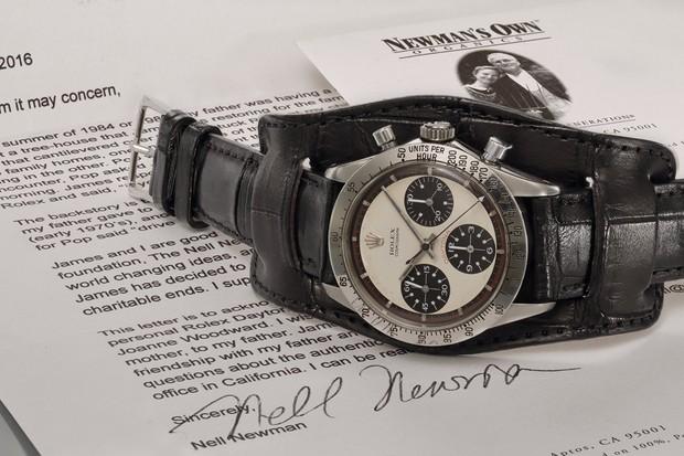 Rolex Daytona foi dado de presente para o namorado da filha de Newman (Foto: Divulgação)