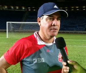 Vinicius Saldanha - técnico Imperatriz falando sobre decisão do Campeonato Maranhense 2015 (Foto: Bruno Alves/Globoesporte.com)