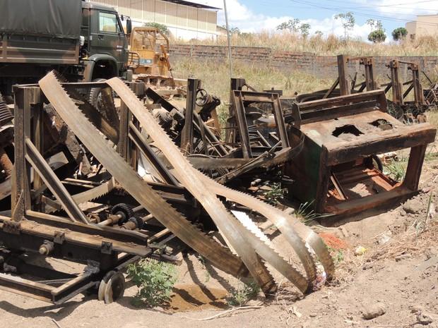 Serrarias e equipamentos também foram apreendidos pelo Ibama (Foto: Divulgação)