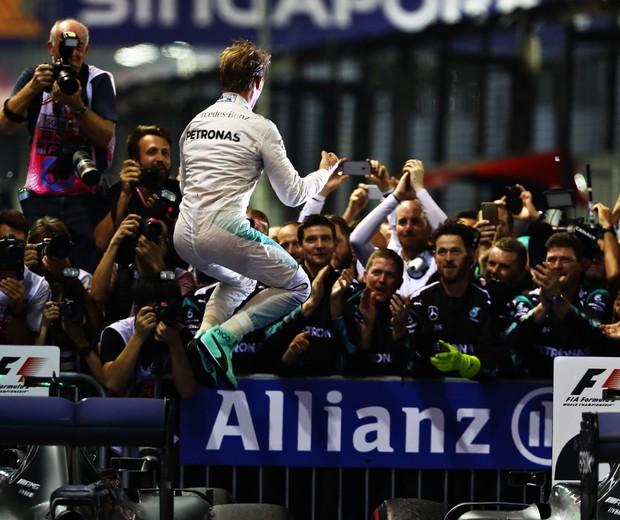 Nico Rosberg vence GP de Cingapura 2016 (Foto: getty images)