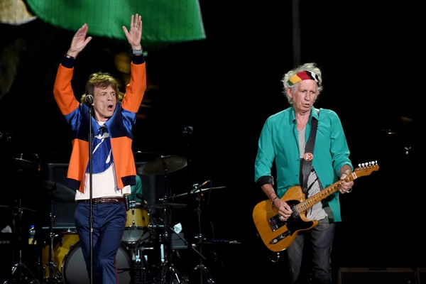 Mick Jagger e Keith Richards em um show dos Rolling Stones (Foto: Getty Images)
