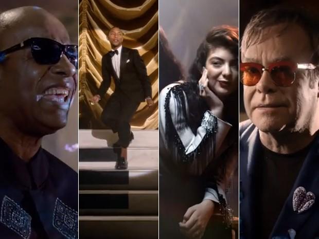 Stevie Wonder, Pharrell, Lorde e Stevie Wonder cantam versão de 'God only knows' para a BBC Music (Foto: Divulgação/BBC Music)