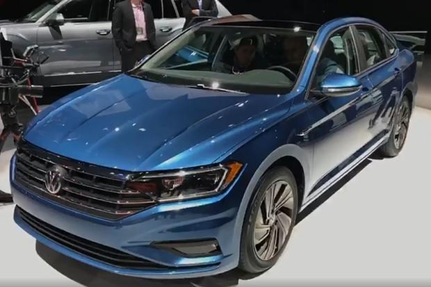 Ao vivo: Volkswagen Jetta direto do Salão de Detroit (Foto: Reprodução / Autoesporte)