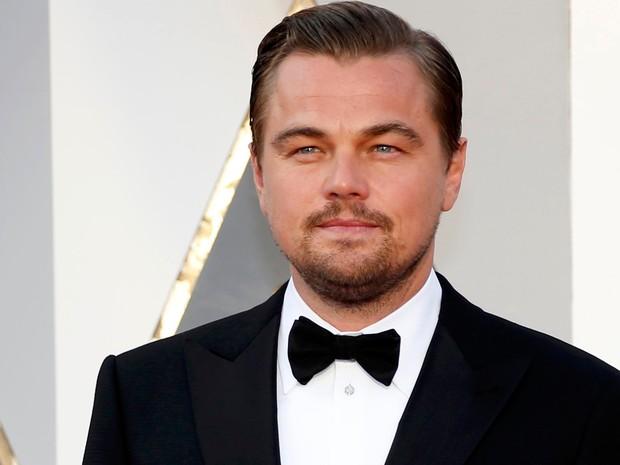 Leonardo DiCaprio, indicado a melhor ator por 'O regresso', no tapete vermelho do Oscar 2016 (Foto: REUTERS/Lucy Nicholson)