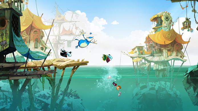 Visual colorido, colaborativo de quatro jogadores e fases com mapas muito criativos são pontos fortes de Rayman Origins (Foto: Divulgação/Ubisoft)