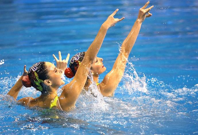 Maria Eduarda e Luisa Borges - Sul-Americano de Desportos Aquáticos 2014 (Foto: Satiro Sodré / SSpress)