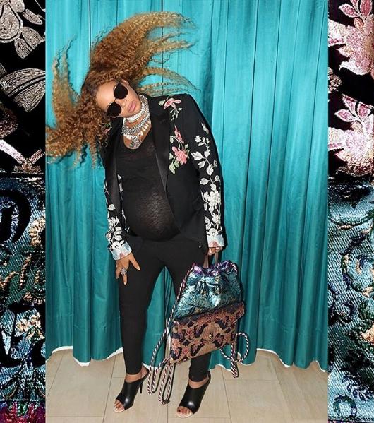 Beyoncé grávida em Gucci (Foto: Reprodução/Instagram)