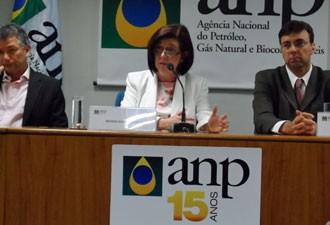 Diretora-geral da ANP, em entrevista sobre leilão de área do pré-sal (Foto: Lilian Quaino/G1)