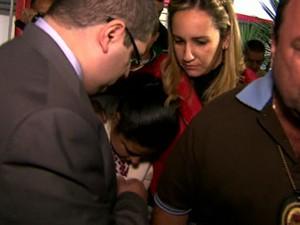 GNews - mulher de publicitário acusado de matar zelador em SP (Foto: globonews)