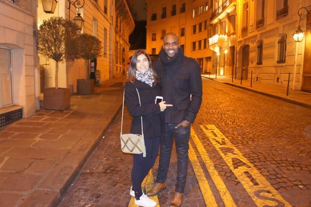 Rafael Zulu e a namorada (Foto: Arquivo pessoal)