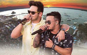 """Na praia, Matheus & Kauan caem no reggae no clipe de """"O Nosso Santo Bateu"""""""