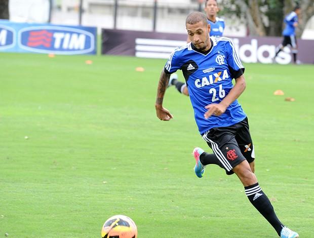 Paulinho treina na manhã deste domingo no Ninho (Foto: Alexandre Vidal/ Fla Imagem)