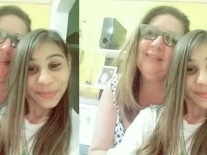 Victória com carinho sobre a mãe: amo muito ela (Foto: Fátima Cabral / Arquivo Pessoal)