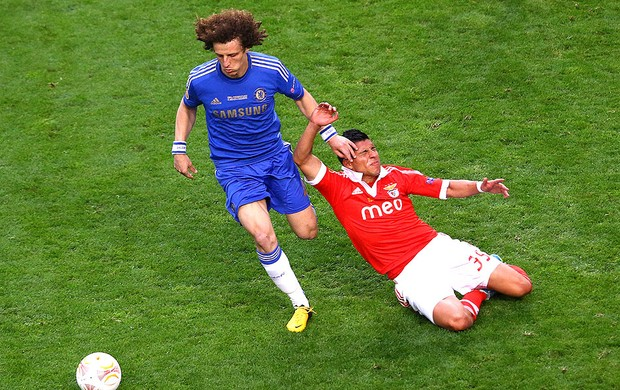 David Luiz jogo Chelsea final Liga Europa Benfica (Foto: Getty Images)