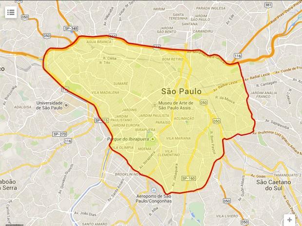 Mapa Rodizio (Foto: Reprodução/ CET)