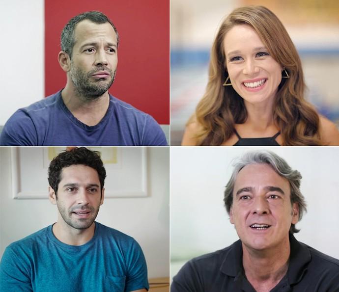Malvino Salvador, Mariana Ximenes, João Baldasserini e Alexandre Borges falam sobre São Paulo (Foto: Globo)
