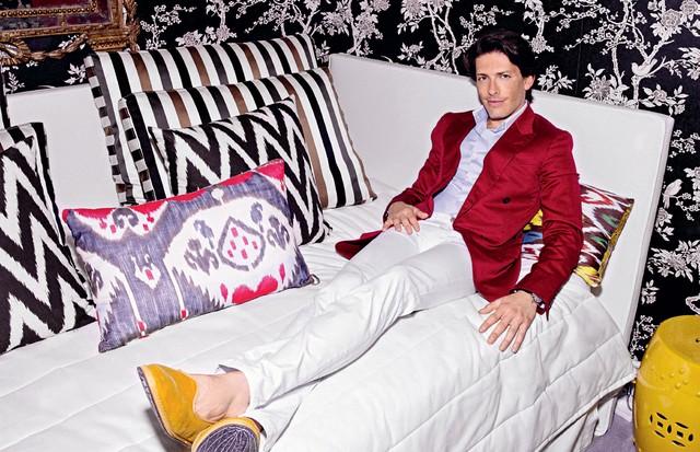 As almofadas do designer de sapatos Edgardo Osorio (Foto: Arquivo Vogue)