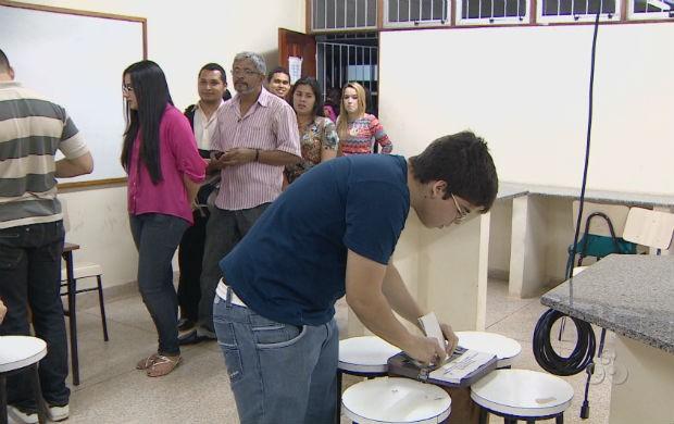 Votação para escolha do reitor na Unifap (Foto: Reprodução/TV Amapá)