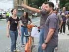 Polícia reconstitui atropelamento que matou ciclista