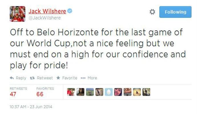 Meia Jack Wilshere, do Arsenal