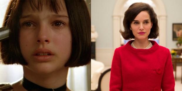 Natalie Portman em O Profissional e em Jackie (Foto: Divulgação/ IMDB)