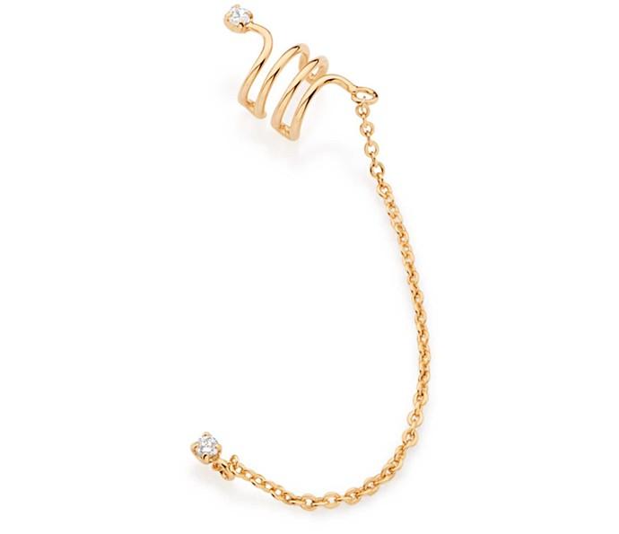 Ear cuff é o brinco que cobre toda a orelha e pode ser utilizado em produções sofisticadas ou básicas (Foto: Rommanel)