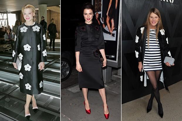 Famosas com look Prada - Lea Seydoux, Rachel Weisz e Anna Dello Russo (Foto: Getty Images)