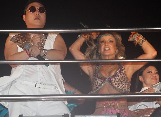 Psy e Claudia Leitte (Foto: Ricardo Cardoso)