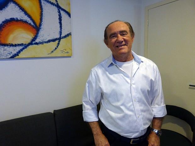 Renato Aragão comemora mais um anos do Criança Esperança (Foto: Vídeo Show/TV Globo)
