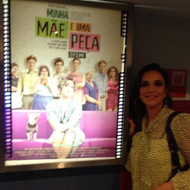 Ivete Sangalo em cinema (Foto: Instagram/ Reprodução)