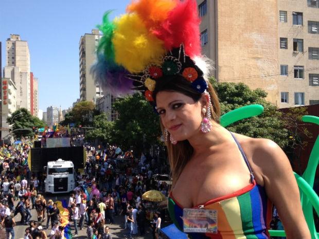 Rafaelly Wiest, organizadora da Parada da Diversidade, esperava 150 mil pessoas (Foto: Fernando Castro/G1)
