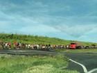 Marcha do MST recomeça e trânsito fica lento na BR-324 nesta quinta-feira