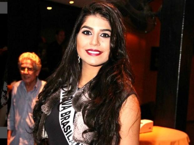 Miss Nova Brasilândia, Hiurica Pinheiro, tem 19 anos, 1,78m de altura e 63 kg (Foto: Divulgação)