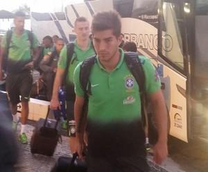 Chegada Brasil sub-23 São Luís (Foto: Bruno Alves)