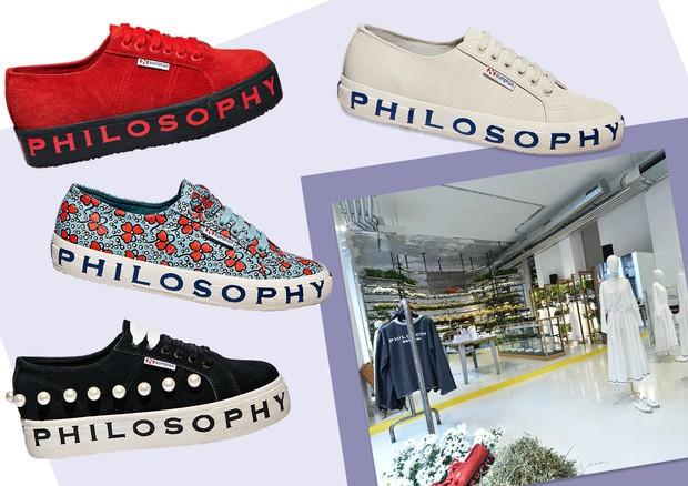 Philosophy di Lorenzo Serafini + Superga (Foto: Arte Vogue Online)