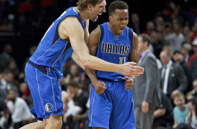 Yogi Ferrell Dallas Mavericks x Portland TrailBlazers (Foto: AP)