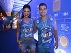 Paloma Bernardi vai com Thiago Martins ao desfile das campeãs no Rio