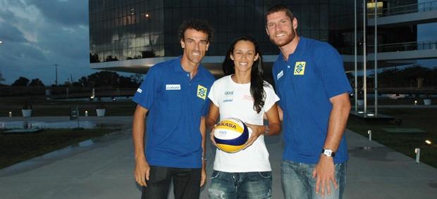 Emanuel, Talita, Alison, vôlei de praia (Foto: Lucas Barros / Globoesporte.com/pb)