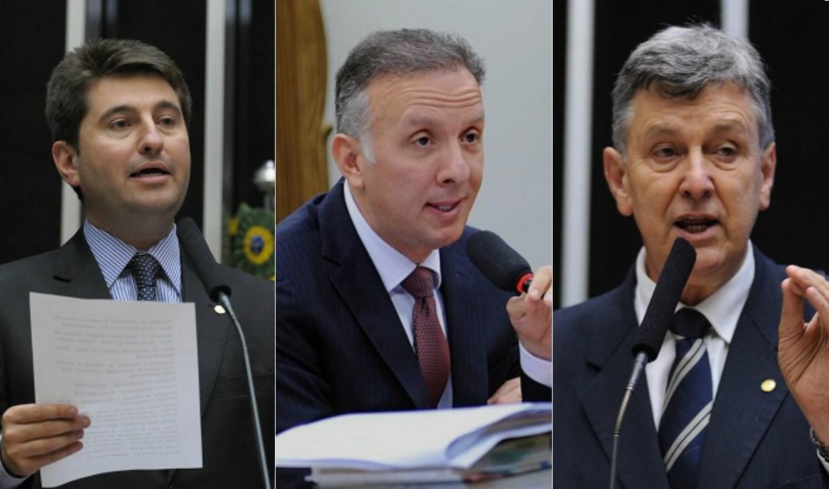 Comissão do Impeachment: Os deputados Jerônimo Georgen, Aguinaldo Ribeiro e Luis Carlos Heinze