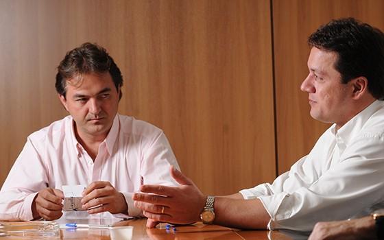 Joesley e Wesley Batista, do grupo J&F (Foto: Claudio Belli/Valor)