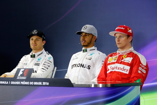 Coletiva pós-classificação para o GP do Brasil (Foto: Divulgação)