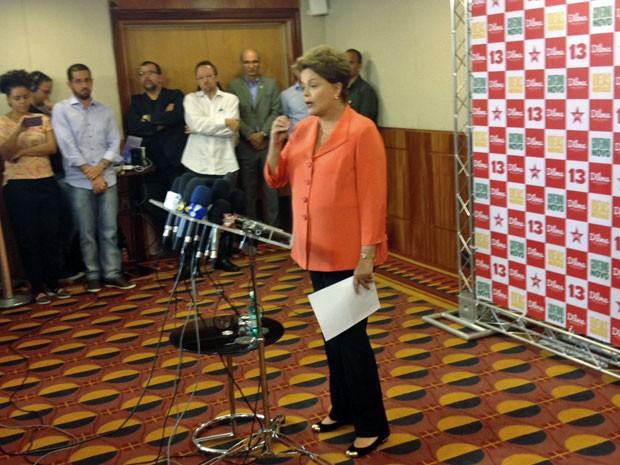 Dima Rousseff dá entrevista em São Paulo (Foto: Marcelo Mora)