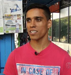 Wendell Lira - atacante (Foto: Reprodução / TV Anhanguera)