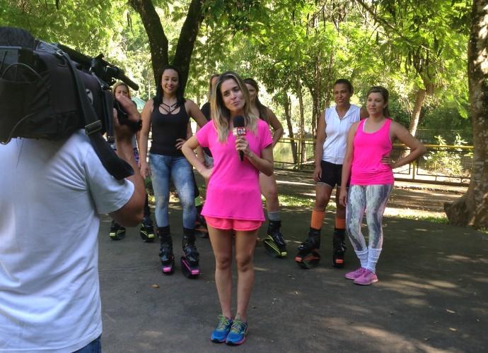 Será que Diana Sabadini vai se dar bem com esse novo exercício? (Foto: Camila Santos)