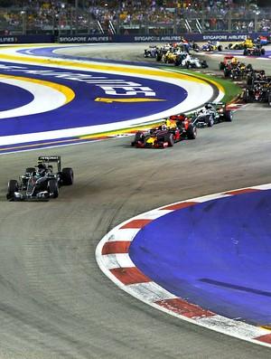 Largada do GP de Cingapura de 2016
