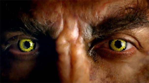 Aristóbulo vira lobisomem na novela Saramandaia; assista a uma prévia no vídeo acima (Foto: Globo)