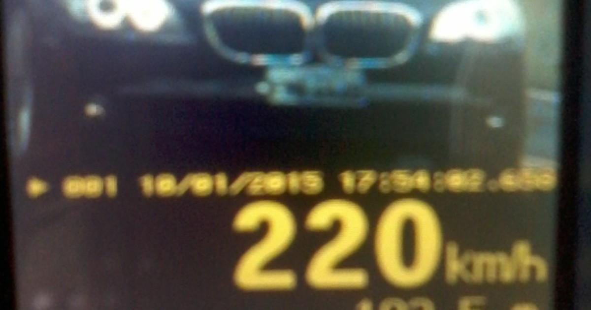 Veículo é flagrado a 220 km/h em rodovia de Venâncio Aires, no RS - Globo.com