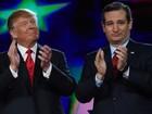 Pesquisa mostra Donald Trump e Ted Cruz empatados em Iowa, EUA